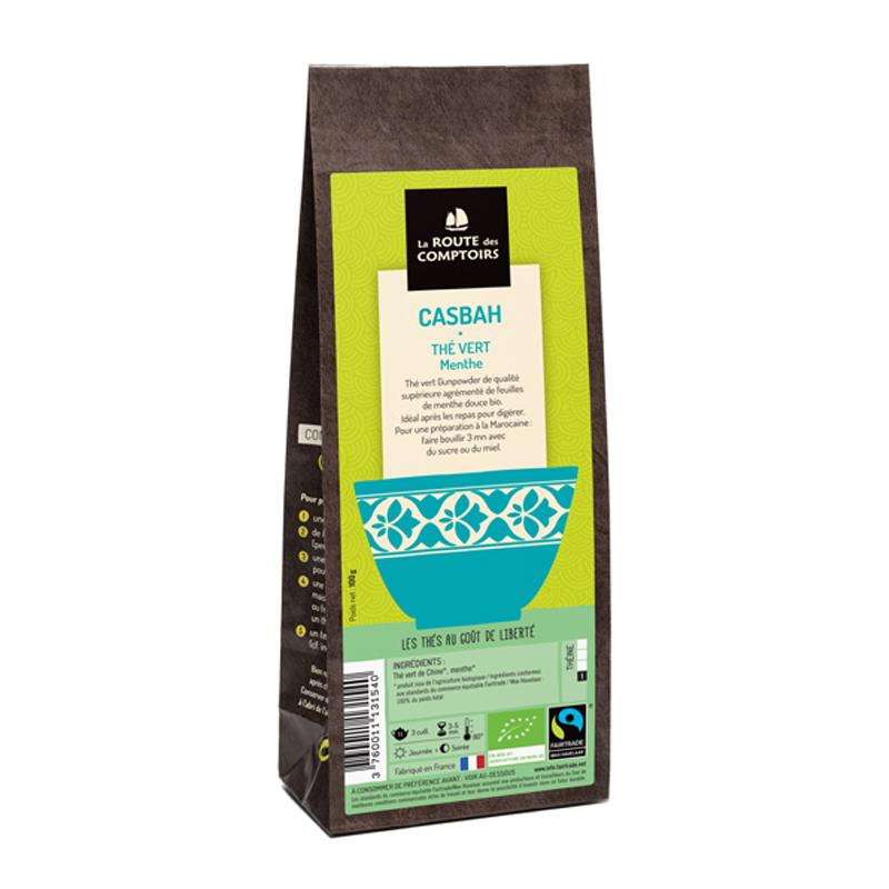 Un thé vert à la menthe réalisé par La Route des Comptoirs