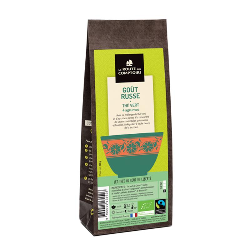 Paquet de thé vert GOUT RUSSE