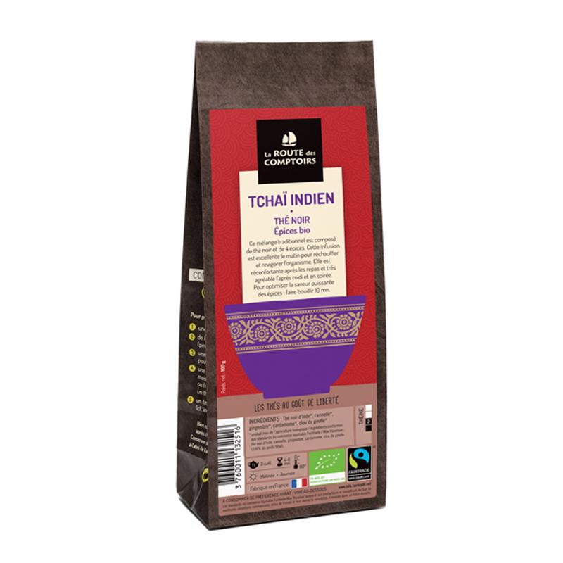 thé noir Tchaï Indien par La Route des Comptoirs