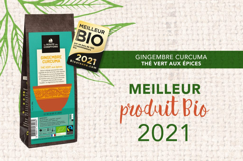 Le thé Gingembre CURCUMA élu meilleur produit Bio 2021